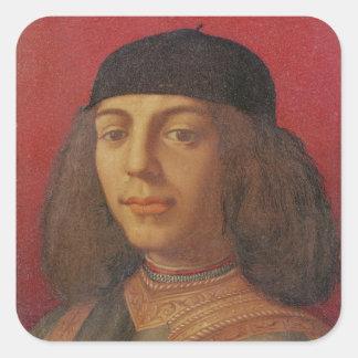 Portrait of Piero di Lorenzo de Medici Square Sticker