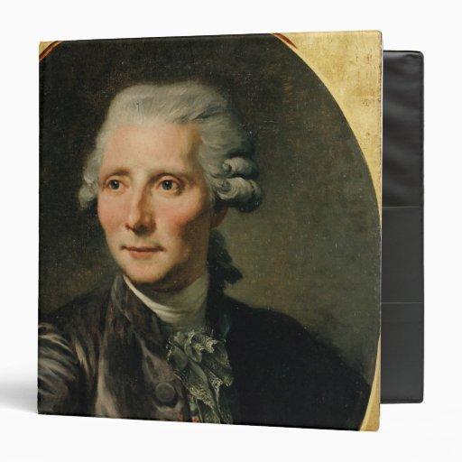 Portrait of Pierre Augustin Caron de 3 Ring Binder