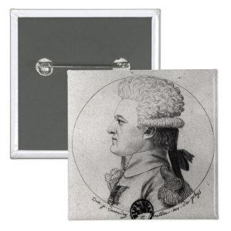 Portrait of Pierre Charles de Villeneuve Button