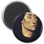 Portrait Of Pierre De Beffremont By Weyden Rogier Magnets
