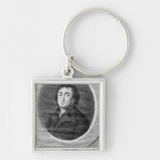 Portrait of Pierre Joseph Cambon Silver-Colored Square Keychain