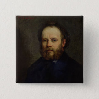 Portrait of Pierre Joseph Proudhon  1865 Pinback Button