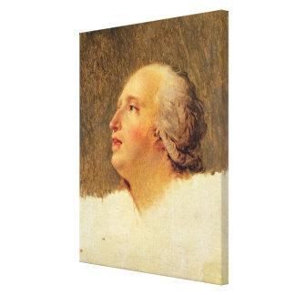 Portrait of Pierre Louis Prieur Canvas Print