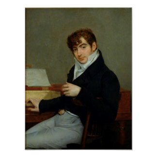 Portrait of Pierre Zimmermann  1808 Poster