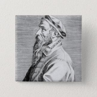 Portrait of Pieter Brueghel the Elder Button