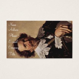 'Portrait of Pieter van den Broecke' Business Card