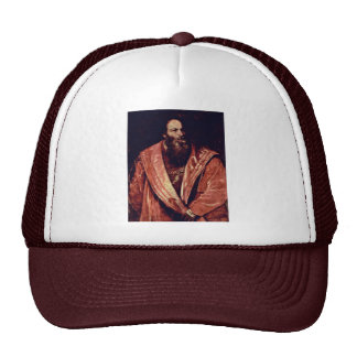 Portrait Of Pietro Aretino. By Tizian Trucker Hat