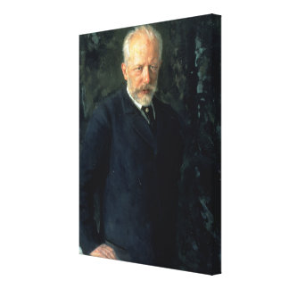 Portrait of Piotr Ilyich Tchaikovsky Canvas Print