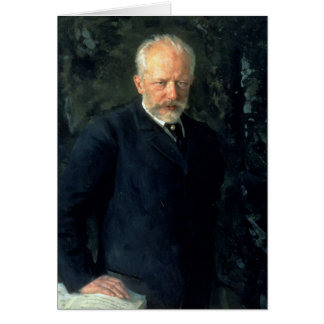 Portrait of Piotr Ilyich Tchaikovsky Card
