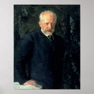 Portrait of Piotr Ilyich Tchaikovsky Poster