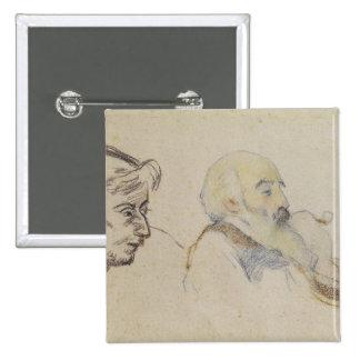 Portrait of Pissarro by Gauguin Pin