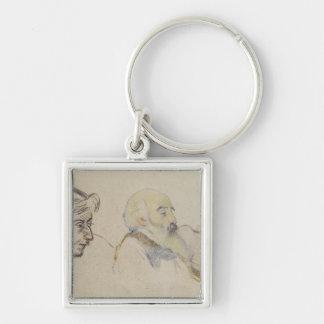 Portrait of Pissarro by Gauguin Keychain