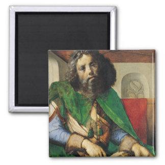 Portrait of Plato  c.1475 2 Inch Square Magnet