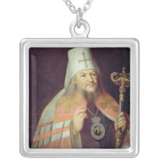 Portrait of Plato II, Metropolitan of Moscow Silver Plated Necklace