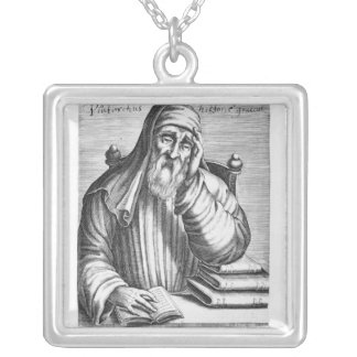 Portrait of Plutarch Silver Plated Necklace
