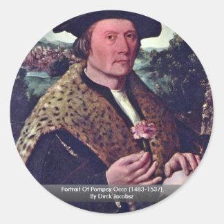 Portrait Of Pompey Occo (1483-1537). Round Stickers