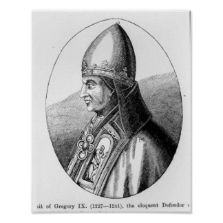 Portrait of Pope Gregory IX Poster