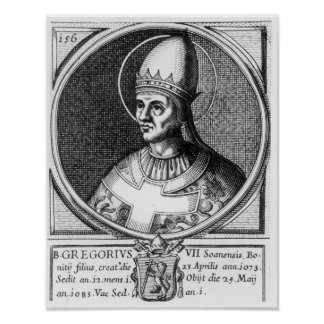 Portrait of Pope Gregory VII Poster