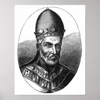 Portrait of Pope Honorius III Poster
