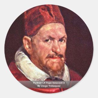 Portrait Of Pope Innocent X By Diego Velázquez Sticker
