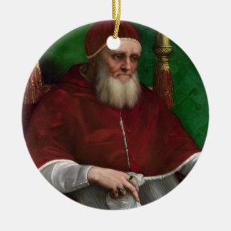 'Portrait of Pope Julius II' Ceramic Ornament