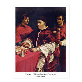 Portrait Of Pope Leo X And Cardinals By Raffael Post Cards