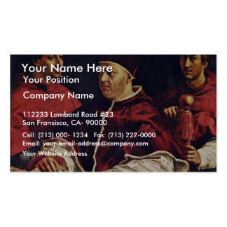 Portrait Of Pope Leo X With His Cousins By Raffael Business Cards