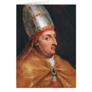 Portrait of Pope Nicholas V Peter Paul Rubens Card