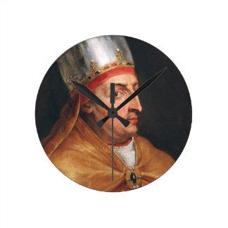 Portrait of Pope Nicholas V Peter Paul Rubens Round Clock