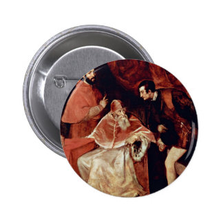 Portrait Of Pope Paul Iii, Cardinal Alessandro Far Pinback Buttons