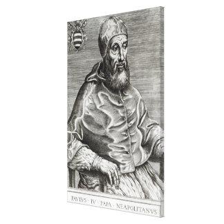 Portrait of Pope Pius IV, 1555 Canvas Print