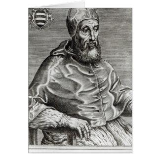 Portrait of Pope Pius IV, 1555 Card