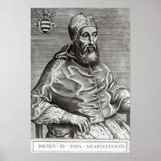 Portrait of Pope Pius IV, 1555 Poster
