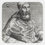 Portrait of Pope Pius IV, 1555 Square Sticker