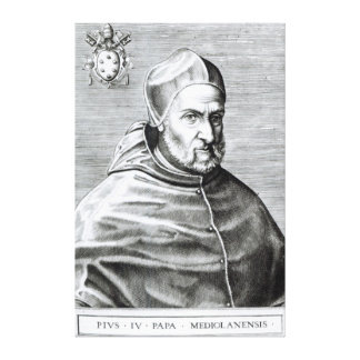 Portrait of Pope Pius IV, 1559 Canvas Print