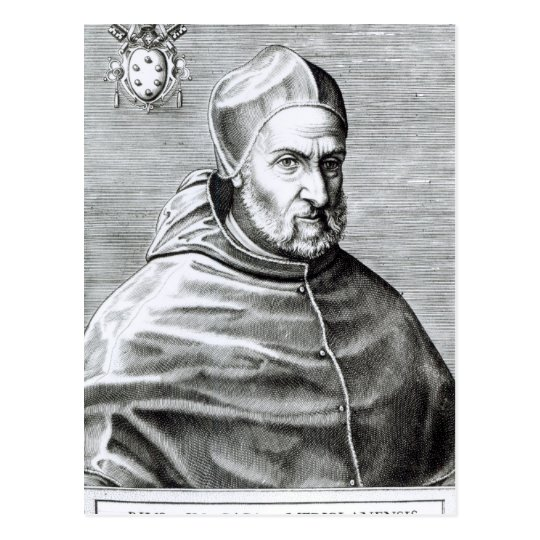 Portrait of Pope Pius IV, 1559 Postcard