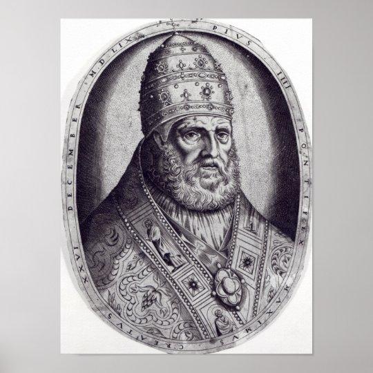 Portrait of Pope Pius IV, 1559 Poster