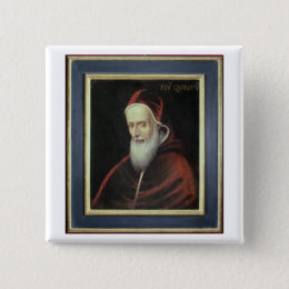 Portrait of Pope Pius V (1504-72) (oil on canvas) Button