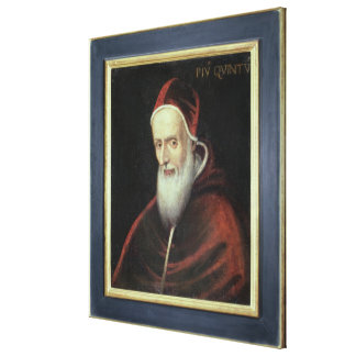 Portrait of Pope Pius V (1504-72) (oil on canvas) Canvas Print