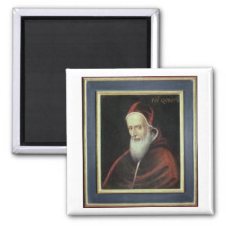 Portrait of Pope Pius V (1504-72) (oil on canvas) Magnet