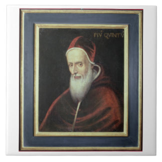 Portrait of Pope Pius V (1504-72) (oil on canvas) Tile
