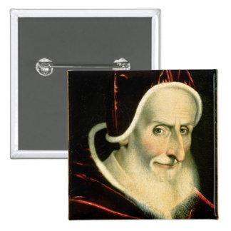 Portrait of Pope Pius V   1576-80 2 Inch Square Button