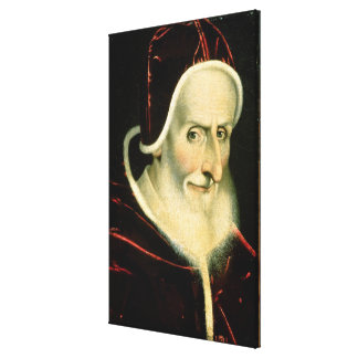Portrait of Pope Pius V   1576-80 Canvas Print