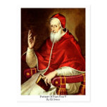 Portrait Of Pope Pius V. By El Greco Postcard