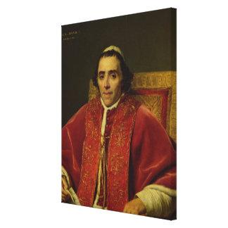 Portrait of Pope Pius VII , 1805 Canvas Print