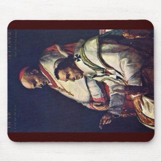 Portrait Of Pope Pius Vii And Cardinal Caprara., B Mouse Pad