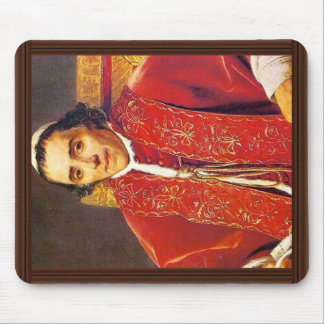 Portrait Of Pope Pius Vii By David Jacques-Louis Mouse Pad