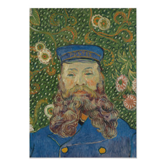 "Portrait of Postman Joseph Roulin by Van Gogh 5"" X 7"" Invitation Card"