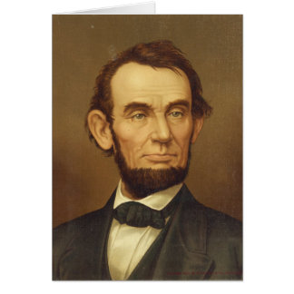 Portrait of President Abraham Lincoln Card