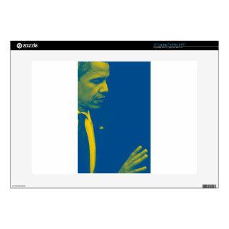 """Portrait of President Barack Obama 38d 15"""" Laptop Decals"""